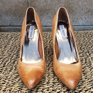 Steve Madden Brown Leather Heels